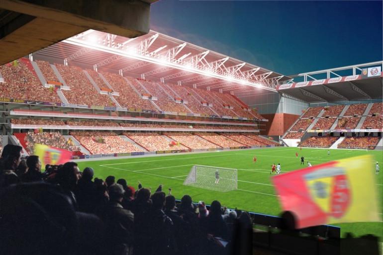 Projet de rénovation du stade Bollaert, à Lens.