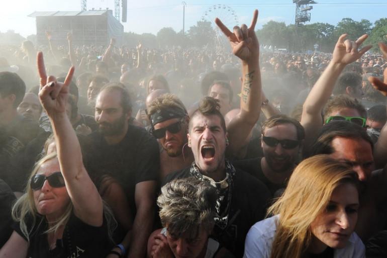 Des fans de Heavy Metal lors du Festival Hellfest