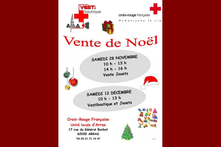 Vente de jouets au profilt de la Croix-Rouge à Arras