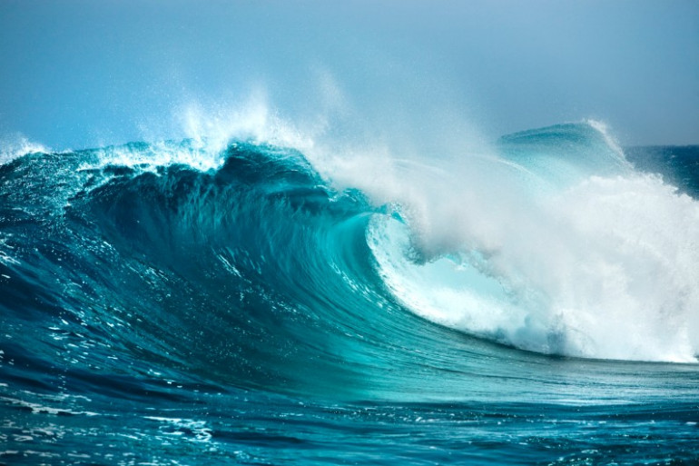 les vagues de l'océan