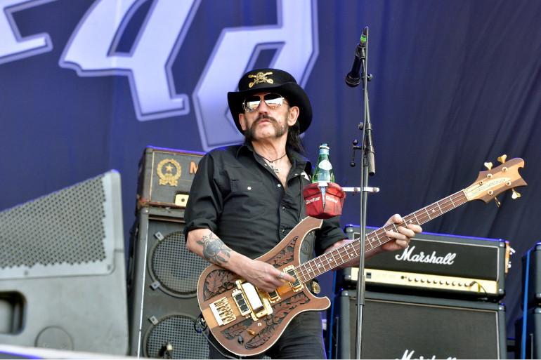 Lemmy Kilmister, leader de Motörhead, au Hellfest festival en juin 2015