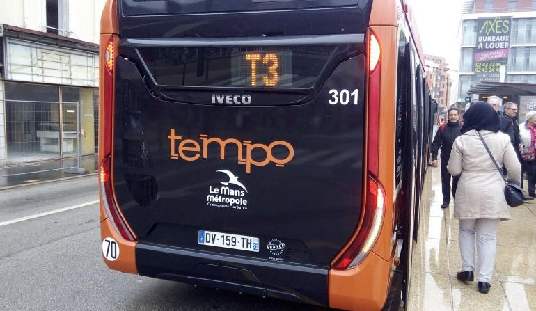 Inauguration du bus TEMPO samedi entre Le Mans et Allonnes