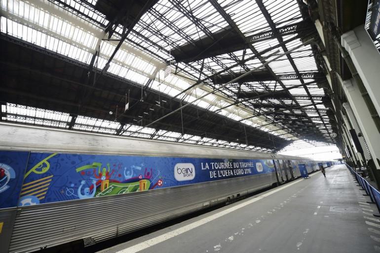 Après Lens le weekend dernier, le train de l'Euro fait escale à Lille du 15 au 17 avril.