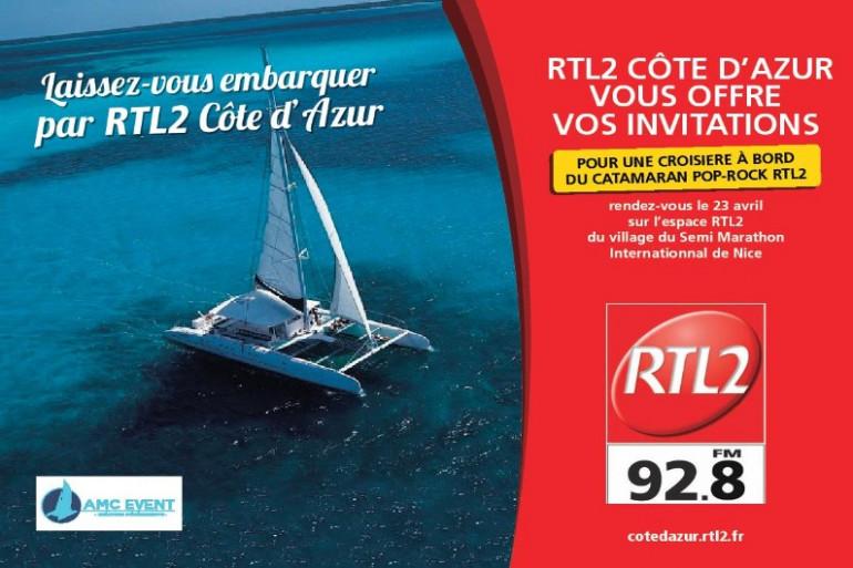 Catamaran Pop Rock by RTL2 Côte d'Azur et AMC Event