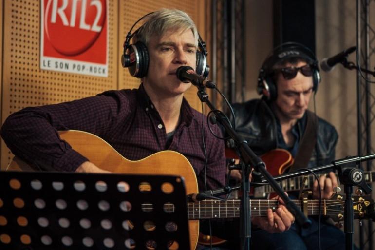 Matthew Caws et Doug Gillard de Nada Surf en session dans les studios de RTL2