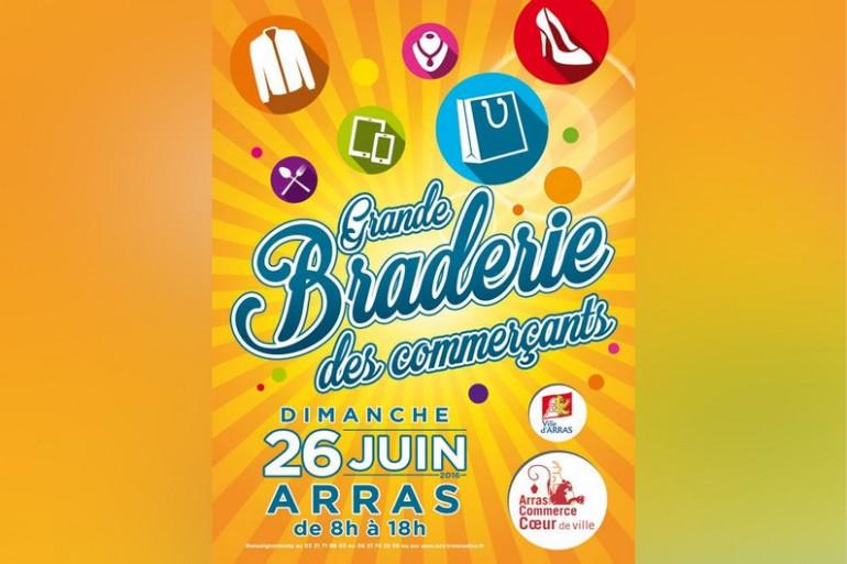 Grande braderie des commerçants à Arras le dimanche 26 juin 2016