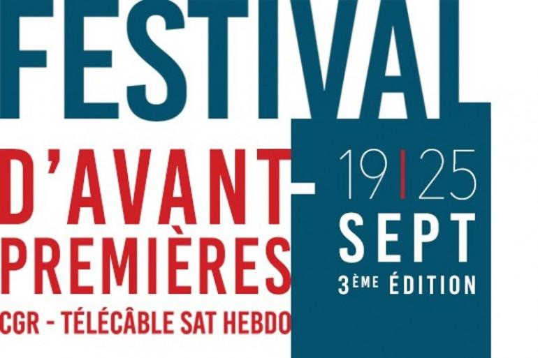 Le festival des avant-premières, c'est du 19 au 25 septembre au Méga CGR de Niort