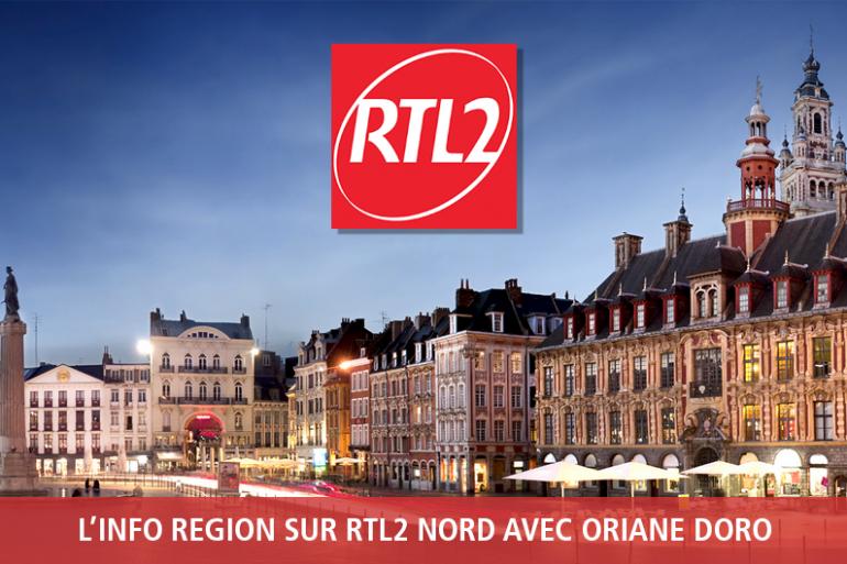 Ecoutez les flashs infos régionaux de 6h30 à 9h sur RTL2 Nord
