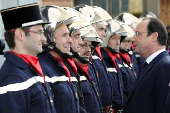 François Hollande assistera à la clôture du Congrès National des Sapeurs-Pompiers le 24 septembre à Tours (photo archives)