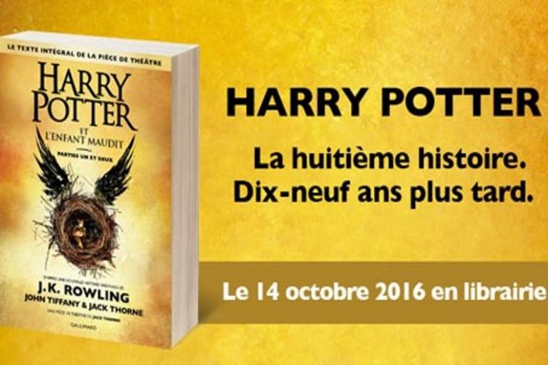 """""""Harry Potter et l'enfant maudit"""" à la librairie des Halles de Niort dès minuit le 14 octobre 2016"""