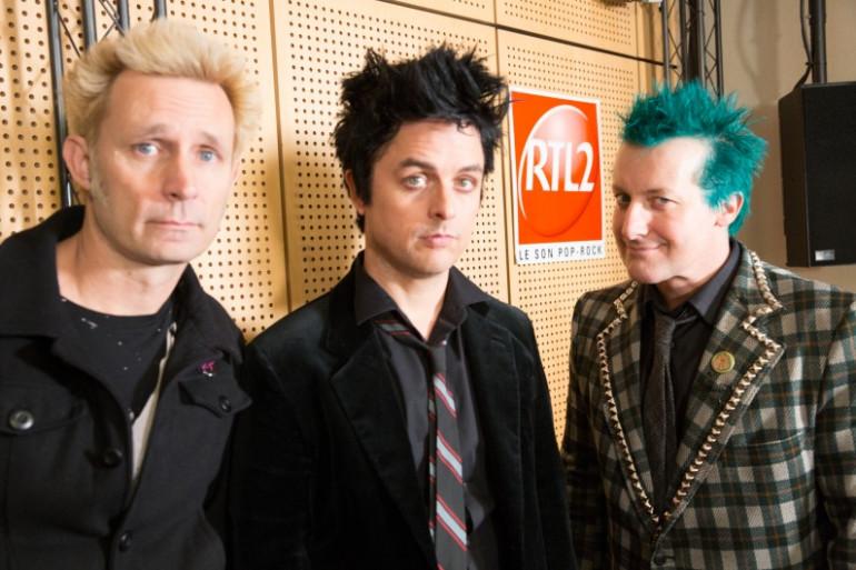 Green Day dans les studios de RTL2