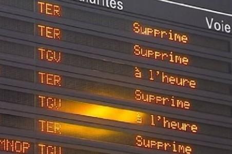SNCF trains supprimés