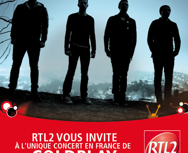 RTL2 vous invite à l'unique concert en France de Coldplay