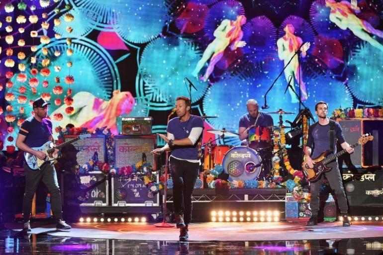 Le groupe britannique Coldplay, mené par le chanteur Chris Martin.