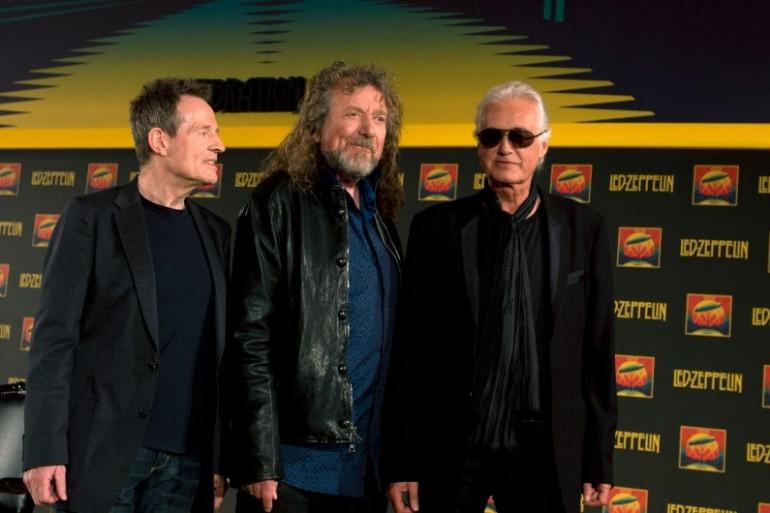 John Paul Jones, Robert Plant et Jimmy Page à Londres en 2012