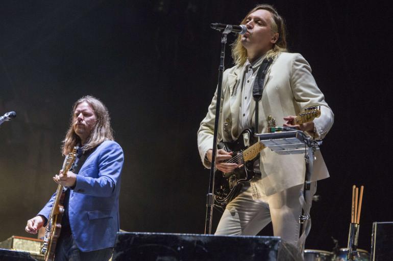Arcade Fire sur scène à la Nouvelle-Orléans, le 30 octobre 2016