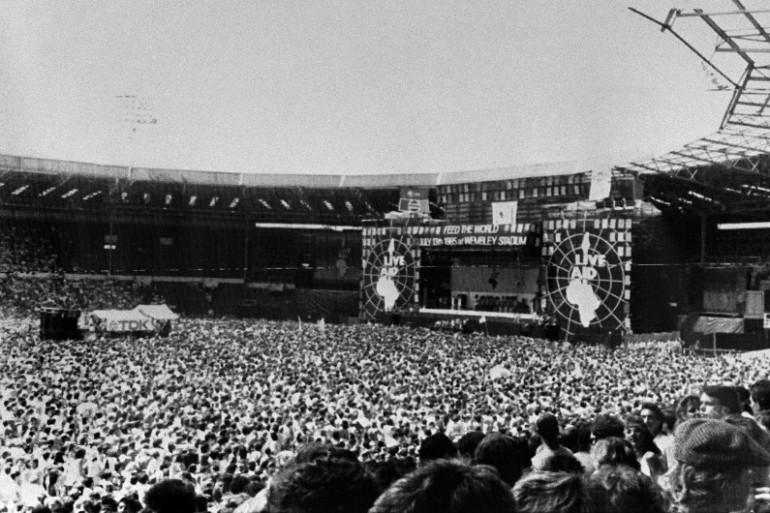 Le Live Aid à Londres le 13 juillet 1985