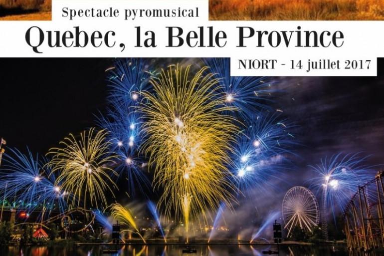 Rendez-vous le 14 juillet, à 23h, sur la place de la Brèche pour un feu d'artifice sur le thème du Québec