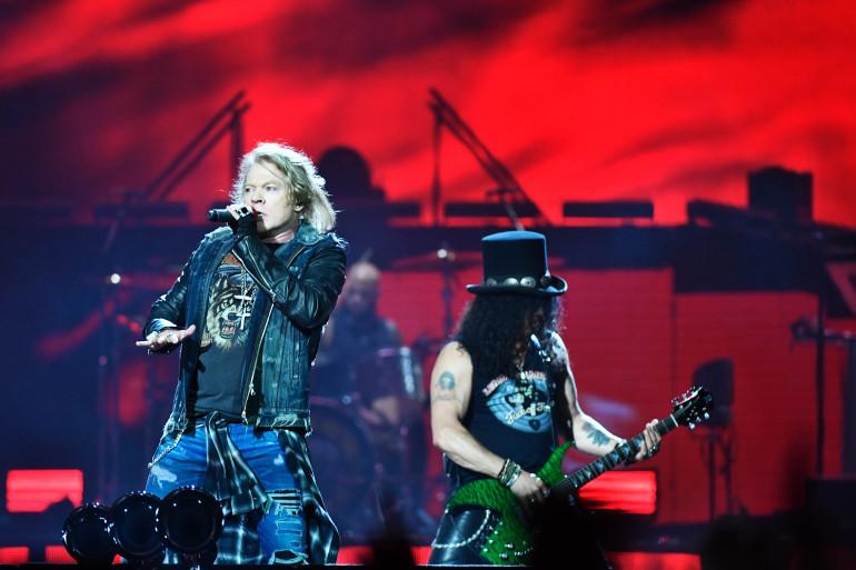 Les Guns & Roses, ici en concert en Suède, le 29 juin 2017.