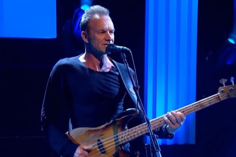 Sting a fait son grand retour en avril 2017 à l'Olympia