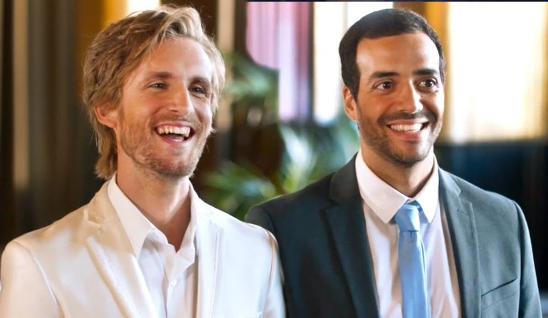 Philippe Lacheau et Tarek Boudali dans Epouse-moi mon pote !