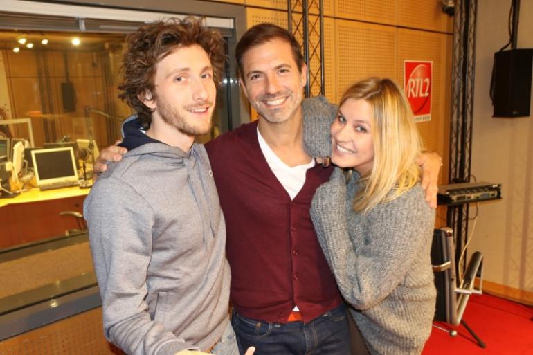 Baptiste Lecaplain en compagnie de Grégory Ascher et de Justine Salmon dans Le Double Expresso RTL2 du 7 novembre 2017
