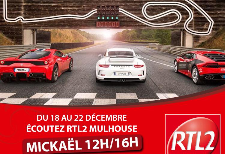 RTL2 Mulhouse et l'Anneau du Rhin vous offre vos tours de circuits au volant d'une voiture de sport !