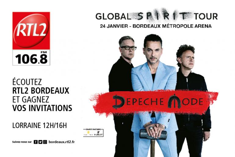 Depeche Mode en concert à Bordeaux Métropole Arena le 24/01 avec RTL2