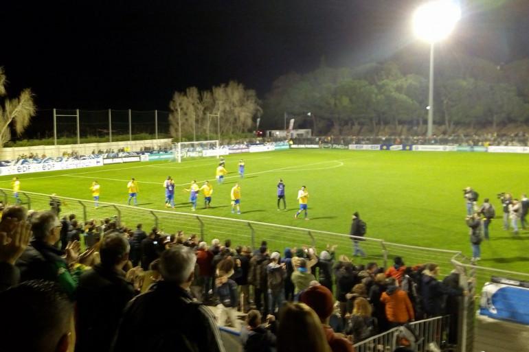 Les footballeurs de Canet-en-Roussillon