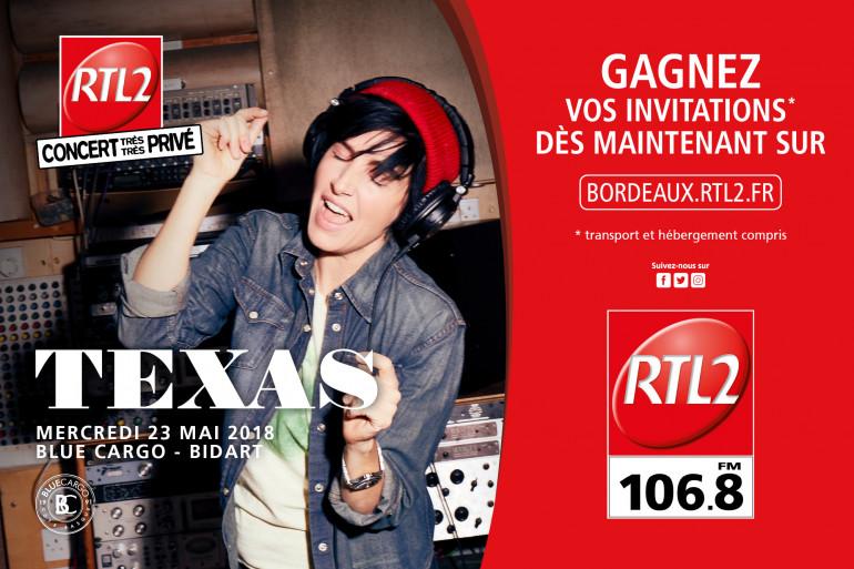 Texas en Concert Très Très Privé avec RTL2