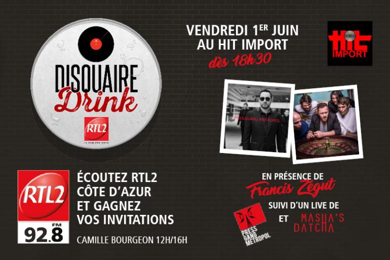 Disquaire Drink By RTL2 Côte d'Azur