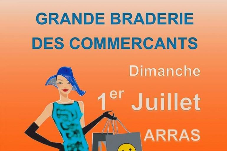 """Grande braderie d'été organisée par l'association """"Arras Commerce Coeur de ville"""" le dimanche 01 juillet 2018"""