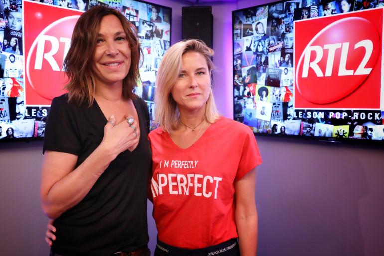 Zazie et Stéphanie Renouvin dans les studios de RTL2