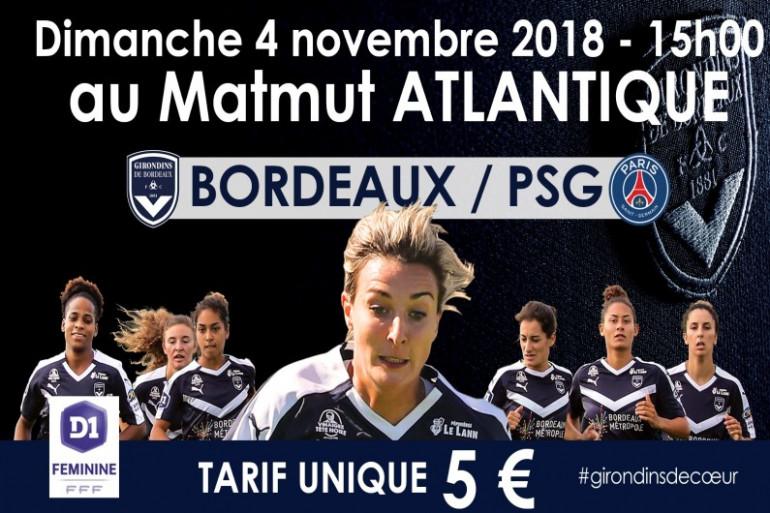 Le FCGB reçoit le PSG en D1 féminine