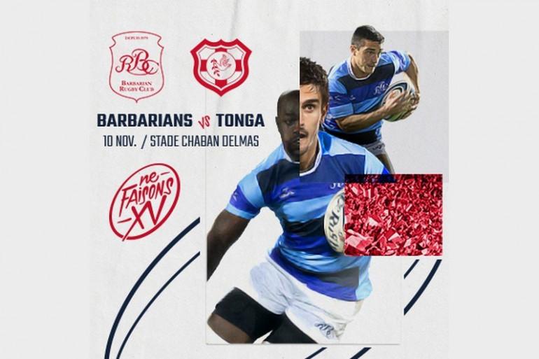 Les Barbarians Français contre le RC Tonga le 10 novembre prochain