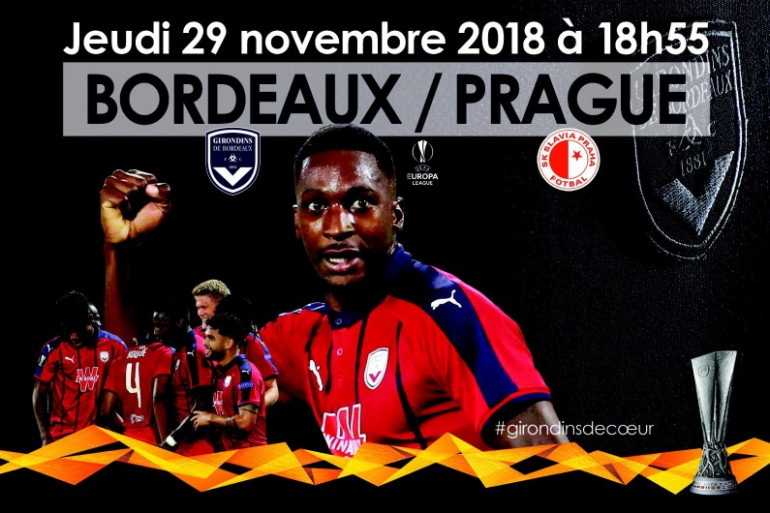 Le FCGB contre le SK SLAVIA le 29/11/2018 en Europa League