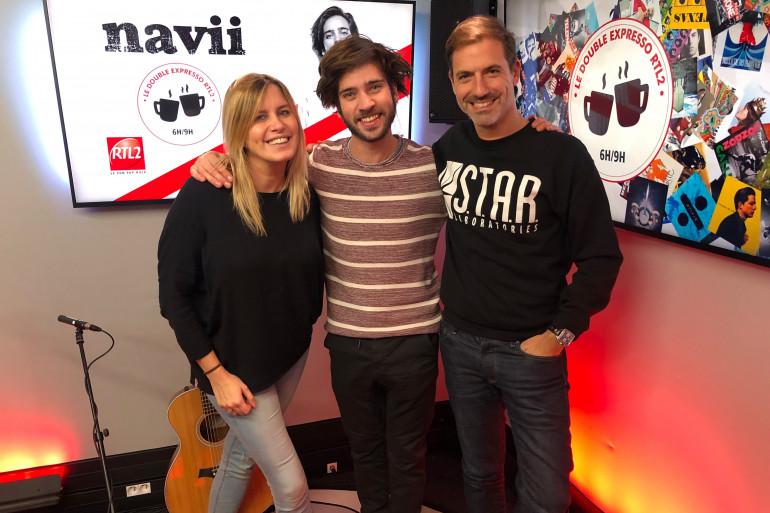 Navii en compagnie de Justine Salmon et Grégory Ascher du Double Expresso RTL2