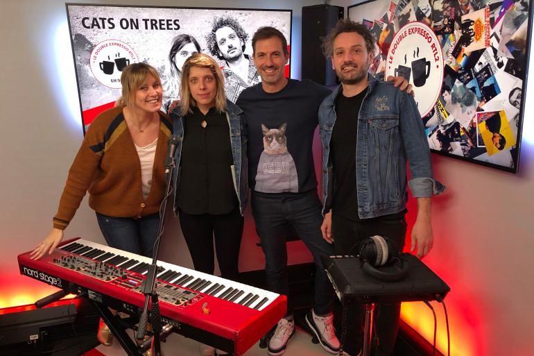 Cats On Tree en compagnie de Justine Salmon et Grégory Ascher du Double Expresso RTL2