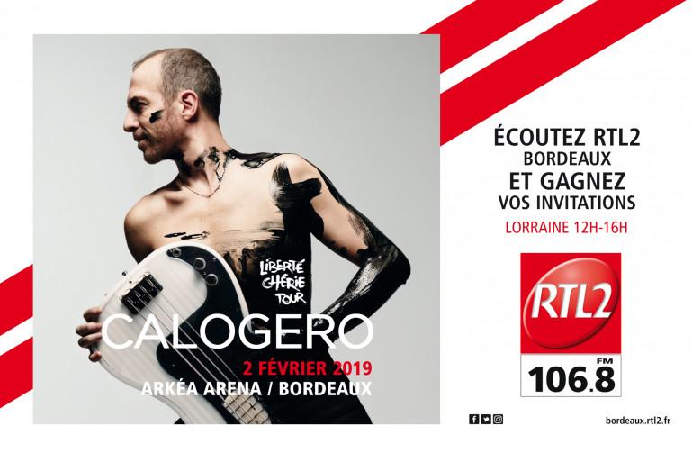 Calogero en concert le 2 février à l'Arkea Arena avec RTL2 Bordeaux