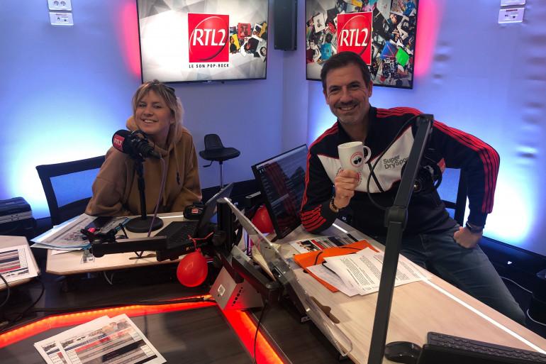 Justine Salmon & Grégory Ascher dans le Double Expresso RTL2
