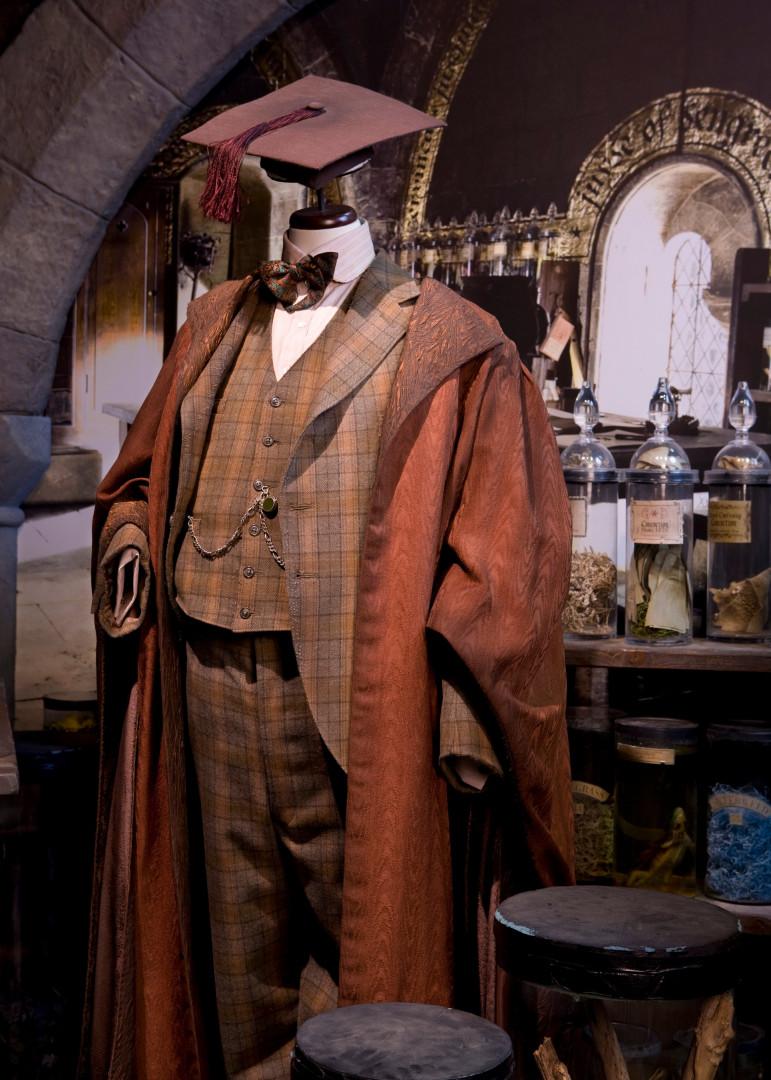 Le costume de professeur Lockhart à l'exposition Harry Potter