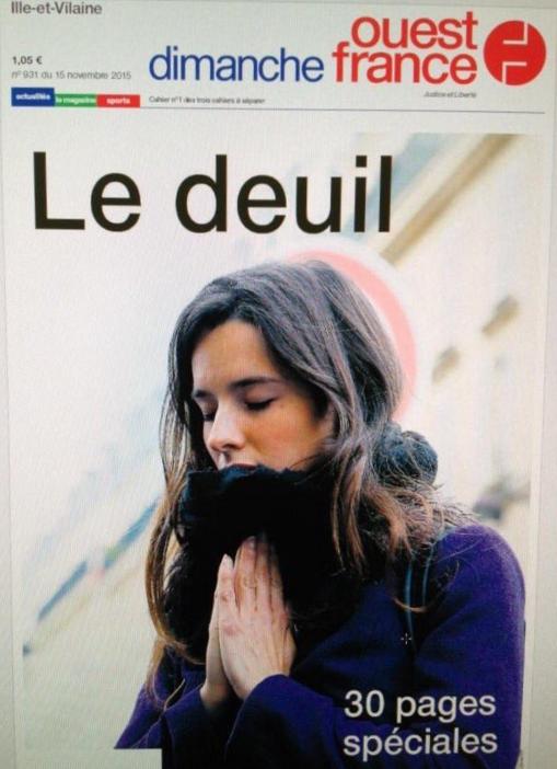 """""""Le deuil"""" en Une de Ouest France"""