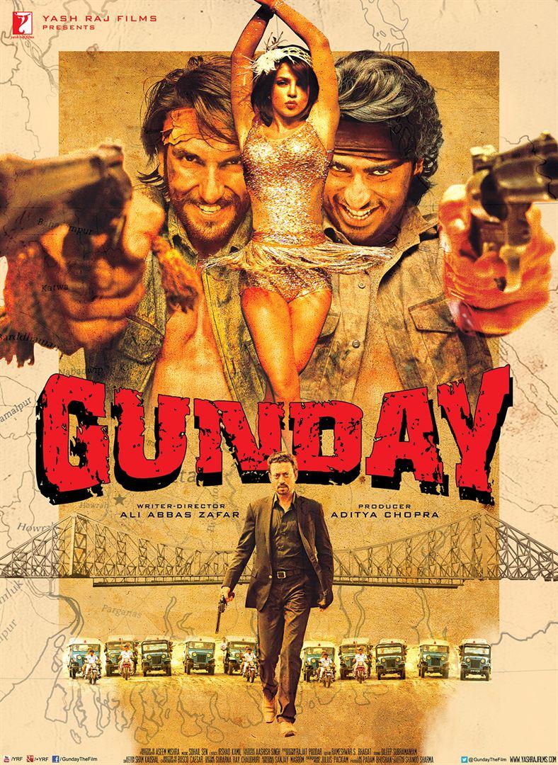 """En 2014, Priyanka Chopra est à l'affiche de """"Gunday"""", un film d'action Indien"""