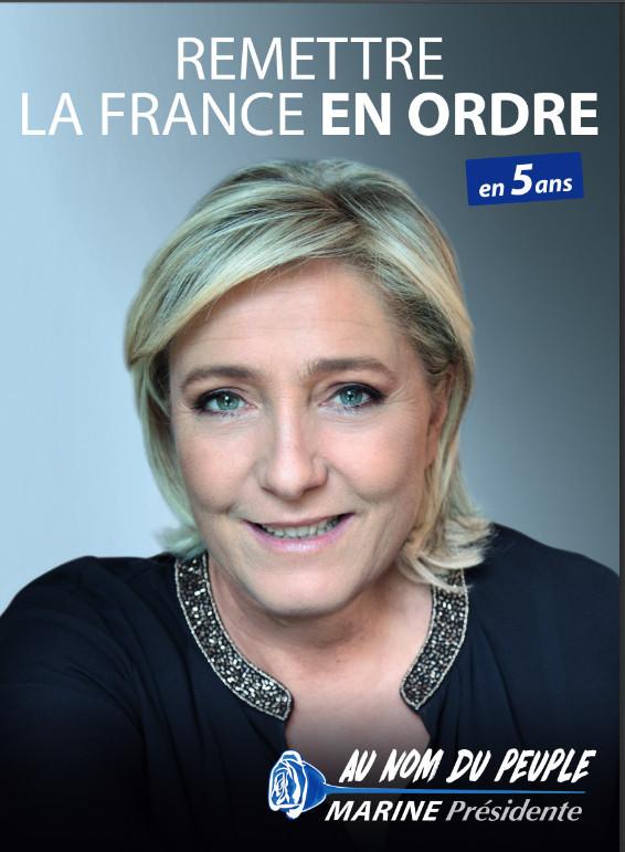 L'affiche officielle de Marine Le Pen