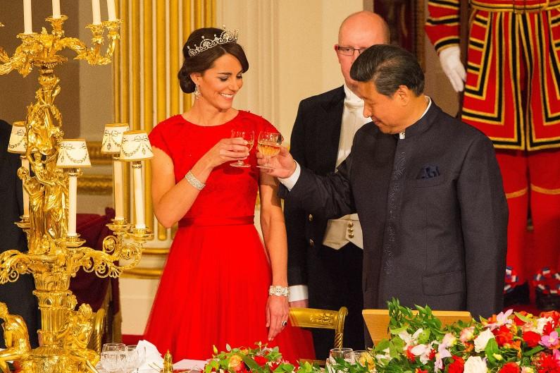 Kate Middleton et le prince William étaient invités à leur premier dîner d'État, le 20 octobre 2015, avec le président chinois