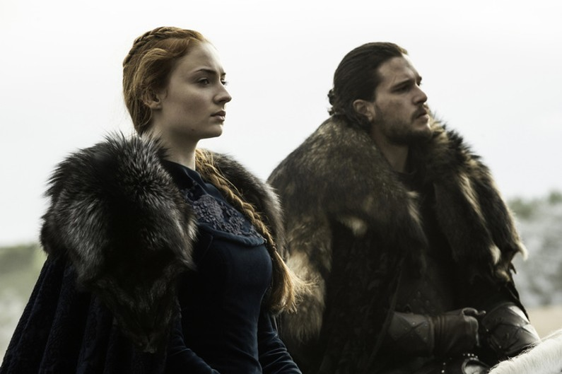 "Jon Snow et Sansa Stark dans la saison 6 de ""Game of Thrones"""