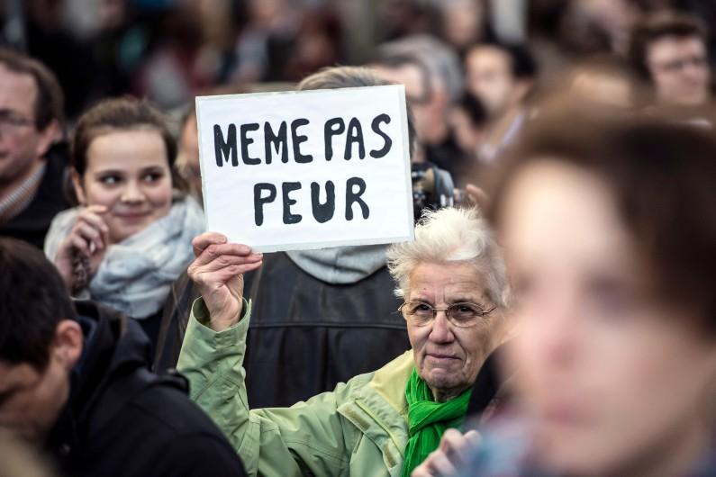 Marche républicaine à Lyon, le dimanche 11 janvier 2015.