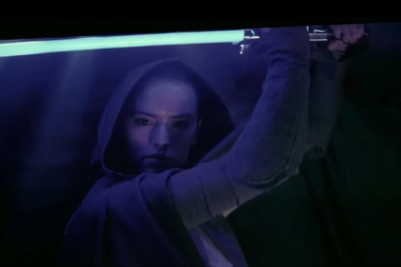 """Rey dans le making-of de """"Star Wars 8"""""""