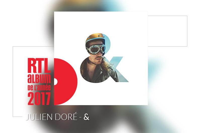"""""""&"""" de Julien Doré, album sélectionné par les auditeurs comme l'Album RTL de l'année 2017 (22€)"""