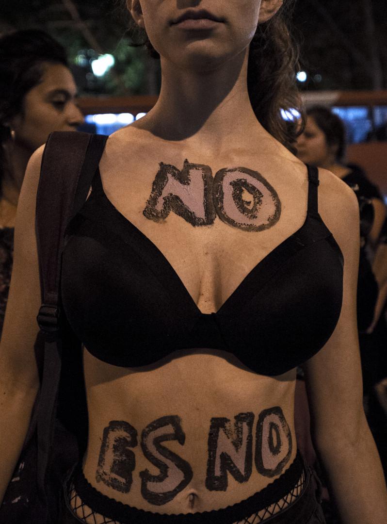 Elles protestent contre les violences sexuelles, très présentes dans la société chilienne.